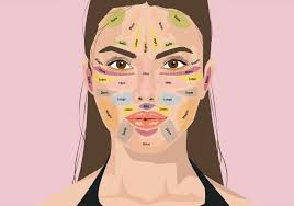 Comic Frau mit Gesichtsinfos